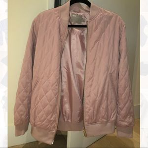 New with out tags. ASOS. Pastel pink. Bomber.